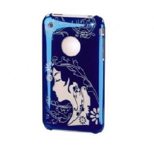 Hama Handy-Cover Face Blau Schutz-Hülle Case Tasche Bag für Apple iPhone 3G 3GS