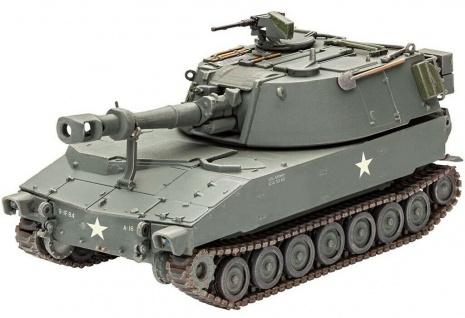 Revell 3265 M109 US Army Panzer Bausatz Modell-Fahrzeug Panzerhaubitze 160 Teile