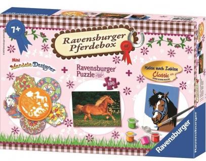 Ravensburger Pferde-Box 3in1 Mandala + Puzzle + Malen nach Zahlen Pferd 88190