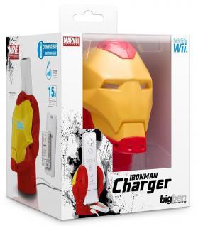 Bigben Marvel Iron Man Ladegerät + Akku Docking Lader für Wii Controller Wiimote