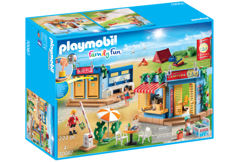 Playmobil Family Fun 70087 Großer Campingplatz Kiosk Dusche großes Urlaubsset