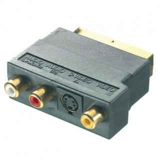 Vivanco Scart-Adapter SVHS 3x Cinch Scart-Umstecker S-Video VHS Audio Mini-Din