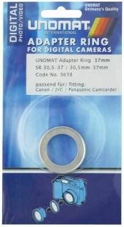Unomat Filter-Adapter Objektiv 30, 5mm Filter 37mm Adapter-Ring 30, 5-37mm Step up