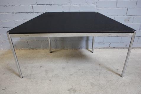 USM Haller Tisch Trapez Beistelltisch Eiche Schwarz 150cm Konferenz