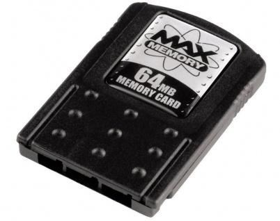 Hama MAX Memory-Card 64 MB Speicherkarte 64MB Karte für Sony PS2 PlayStation 2