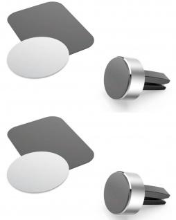 2x Hama Magnet Handy-Halterung Auto Navi Lüftung Gitter KFZ Smartphone Halter
