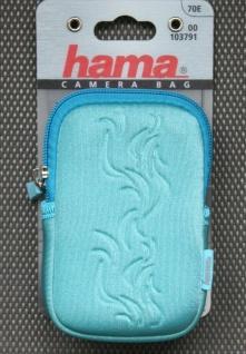 Hama Kamera-Tasche Case Fancy Neopren 70E Foto-Tasche türkis Digital-Kamera Etui
