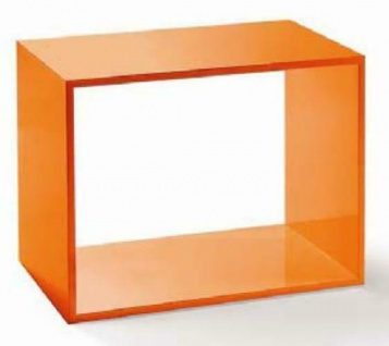 Luxus Rahmen Präsentation für Accessoires Deko Hochglanz holz Orange edel