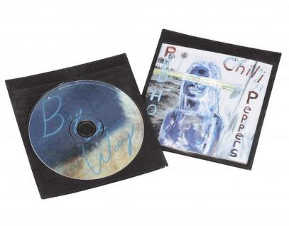 Hama 25x Schutz-Hüllen CD-Hüllen Sleeves für 2x CD DVD Blu-Ray Booklet CD-Tasche