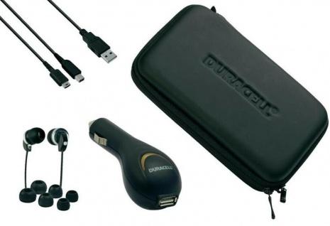 Duracell PACK Tasche Kopfhörer USB Kfz Ladekabel für Nintendo New 3DS / XL N3DS