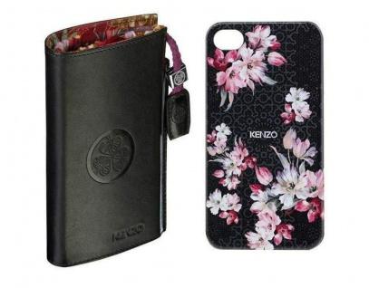 Kenzo Nadir Pack Hard-Case + Tasche Cover Schutz-Hülle Bag für Apple iPhone 4s 4