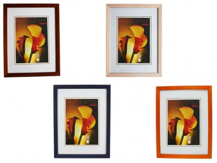 Hama Holz Rahmen Berlin Bilder-Rahmen Poster Foto Portrait Holzrahmen Glas