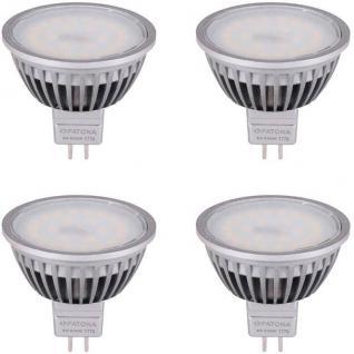 Patona 4x LED Strahler MR16 6W/55W Kalt-weiß 6500K Lampe Glüh-Birne Leuchtmittel