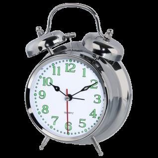Hama Doppelglockenwecker Beleuchtet Analog Nostalgie Retro-Wecker Alarm