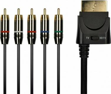 Speedlink Full-HD RGB YUV Komponenten-Kabel 5.1 1080p HD TV für XBOX 360 Konsole