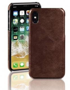 Pazzimo Cover Leder Hard-Case Schale Schutz-Hülle Tasche für Apple iPhone X / Xs
