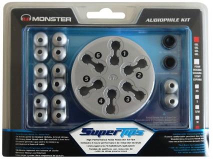 Monster Super-Tips L GEL Ersatz-Ohrstöpsel Ohrpolster Ohrhörer In-Ear Kopfhörer