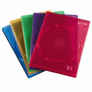 Hama 5x Pack DVD-Hüllen 1er 1-Fach Leer-Hülle Box Boxen für CD DVD Blu-Ray Disc