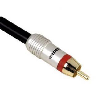 Hama HomeTheatre Verbindungskabel Cinch Stecker 0, 75m 24K vergoldete - Vorschau