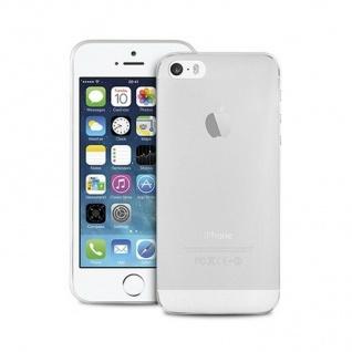 Puro Ultra Slim 0.3 Cover Silikon Case Schutz-Hülle Clear für Apple iPhone 5