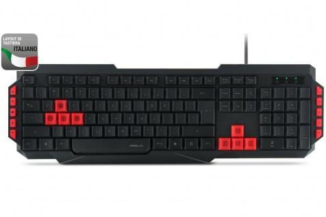 Speedlink USB Gaming Tastatur QWERTY Italien IT ITA Italienisch Keyboard-Layout