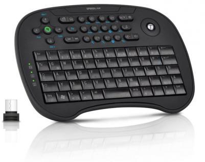 Speedlink SCION Trackball Mini Keybord USB Tastatur Maus für TV Media PC Center