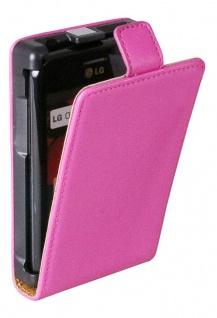 Patona Slim Flip-Cover Klapp-Tasche Schutz-Hülle Case für LG Optimus L3 (E400)