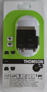 Thomson Scart-Adapter IN/OUT Scart-Stecker 3x RCA S-Video S-VHS Umschalter