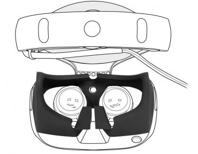 Augen-Einsatz Gesichts-Maske Abdeckung Face Cover für Sony PS VR Brille Headset