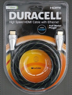 Duracell HQ 2m HDMI-Kabel 1.4 4K 3D Full HD Ethernet Gold für TV XBOX 360 One ..
