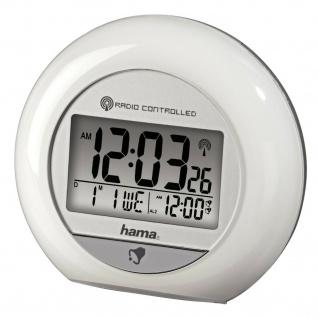 Hama Funkwecker Digital Uhr Alarm Beleuchtet Bewegungssensor Schlummern Datum