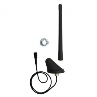 AIV Kfz Dach-Antenne Holm-Antenne + Kabel AM FM DIN-Stecker 150 Ohm Auto-Radio