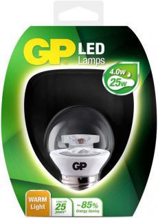 GP LED Mini Birne Klar E27 4W / 25W Warmweiß LED-Lampe Ball Kugel Leuchtmittel