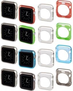 Hama 2x Schutz-Hülle Set Skin TPU Cover Case Bumper für Apple Watch 38mm 42mm
