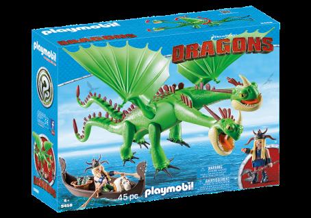 Playmobil 6458 Raffnuss und Taffnuss mit Kotz und Würg Dragons Wikinger Drachen