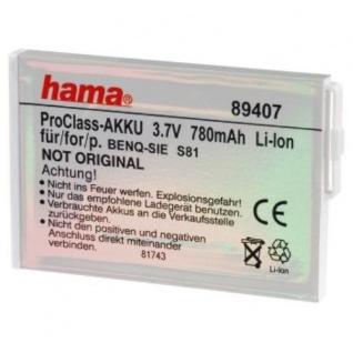 Hama Li-Ion Handy Akku Batterie für BenQ-Samsung S81 EBA-15 73, 7 V 780 mAh - Vorschau