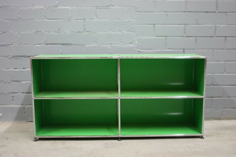 Design USM Haller Sideboard Regal 4 Fächer grün 1, 5m 35cm Tiefe Top-Style Regal
