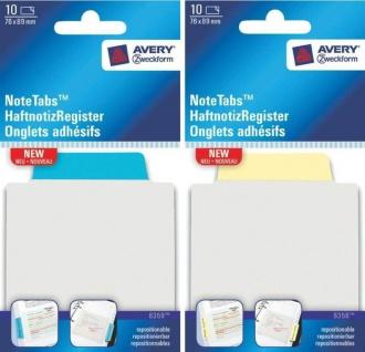 Avery Index-Register Notiz-Block Haft-Notizen Haft-Streifen Marker Register-Tabs