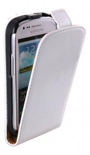 Patona Slim Flip Klapp-Tasche Schutz-Hülle Cover für Samsung Galaxy SIII S3 mini