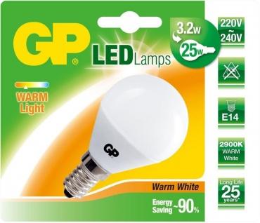 GP LED Mini Birne E14 3, 2W / 25W Warmweiß LED-Lampe Golf-Ball Kugel Leuchtmittel