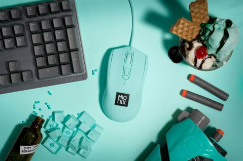 Mionix Gaming + Artists Maus Avior Ice Cream Eis Optisch USB PC Mouse 5000 DPI