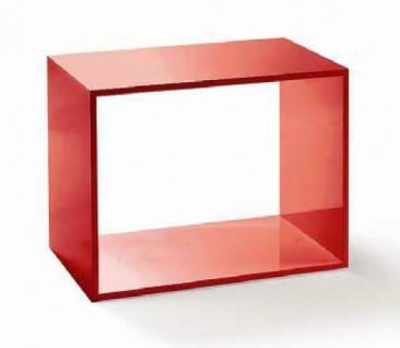 Hochglanz Luxus Rahmen Holz für Präsentationen Accessoires Deko Boutique Rot