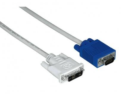 Hama 3m DVI-Stecker DVI-I auf VGA 15pin HDD Adapter-Kabel PC Laptop Monitor TFT