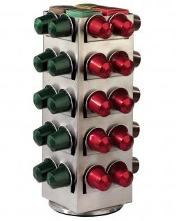 Hama Kapsel-Halter Dreh-Ständer Spender für 80x Nespresso Kaffee-Kapseln Caps