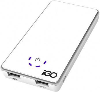 iGo 4700mAh Power-Bank Externer Zusatz-Akku USB Ladegerät Batterie Handy Tablet