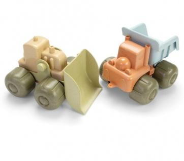 Dantoy Bio Handbagger und LKW Kinder-Spielzeug aus Bio-Kunststoff Sandkasten
