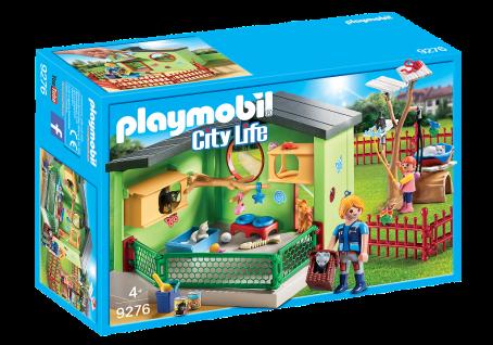 Playmobil 9276 Katzenpension City Life Katzen-Spielplatz Tirepflege Spiel-Käfig