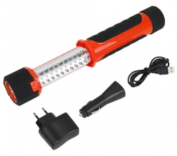 LED Akku Arbeits-Leuchte Ausziehbar KFZ Werkstatt-Lampe Stab-Lampe Hand-Lampe