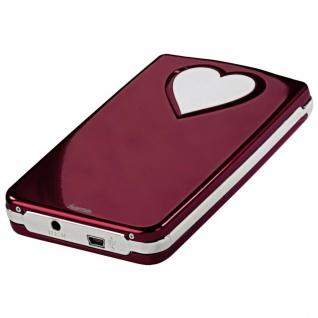 "Hama SATA-USB-2.0-Festplattengehäuse Red-Heart Extern SATA für 2, 5""-Festplatten"