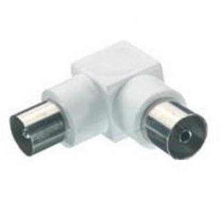 Vivanco Winkel Koaxial-Adapter Koax-Adapter Stecker - Buchse 90° Antennen-kabel